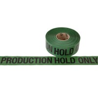 "Green ""Production Hold Only"" Printed Barricade Tape"